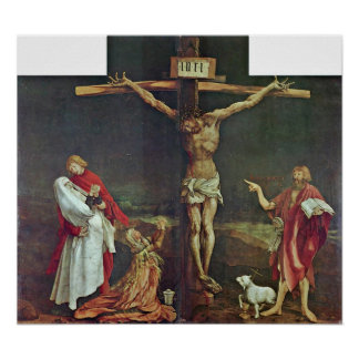 Poster Mathis Grunewald Gothart - crucificação do cristo