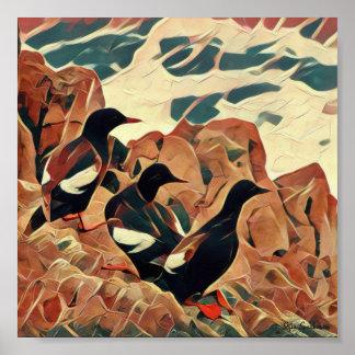 Poster Matte arquivístico abstraído dos Guillemots