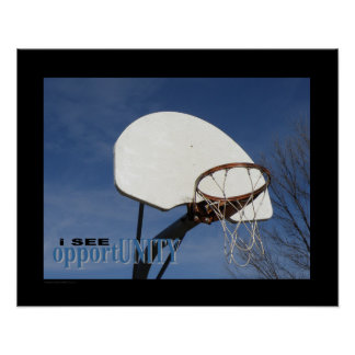 Poster (Matte) do basquetebol #122