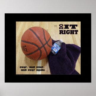 Poster (Matte) do basquetebol #143