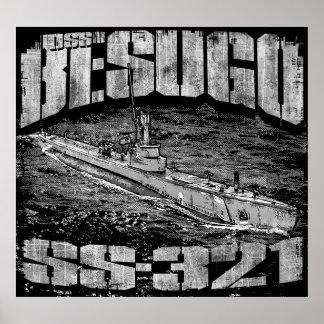 Poster (Matte) submarino do papel de poster do