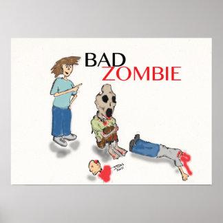 Poster mau do zombi pôster