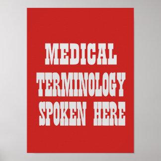 Poster médico da terminologia