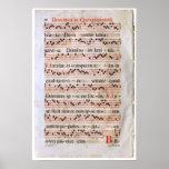 Poster medieval da contagem da música