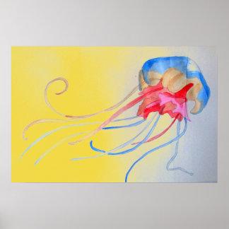 Poster Medusa na ilustração original da arte da areia