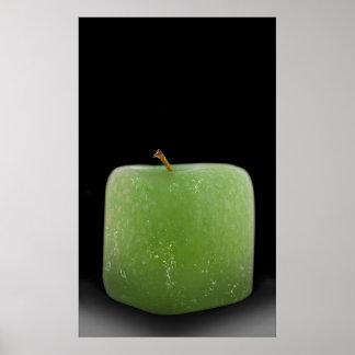 Pôster Meio ao gelo Apple da extra grande (design