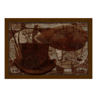 Pôster Meios mistos de Imaginarium Steampunk