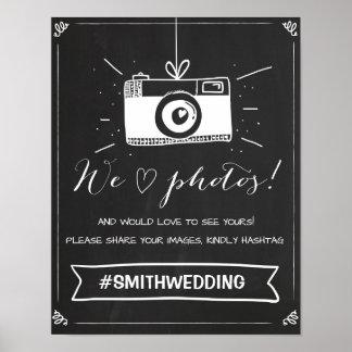 Poster Meios sociais que wedding o sinal Instagram do