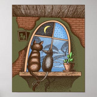 Poster Melhores amigos para sempre, gato e rato,