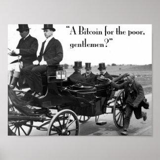 Pôster Mendigo de Bitcoin