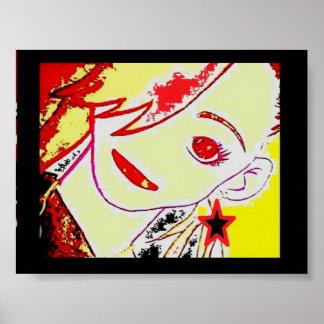 Poster Menina Anime* da estrela