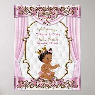 Poster Menina do chá de fraldas do poster, princesa,