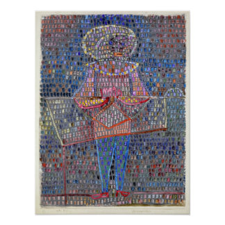 Poster Menino de Paul Klee no vestido de fantasia