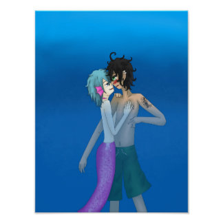 Poster Merman Josh e nadador Lawrence