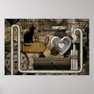Poster Meu coração de Steampunk