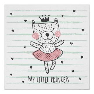 Pôster Meu poster pequeno da princesa ursinho
