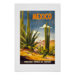 Poster México das viagens vintage
