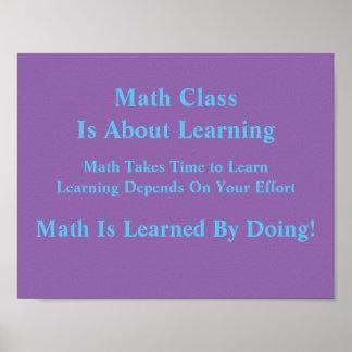Pôster Mindsets da matemática Poster-Instruídos fazendo