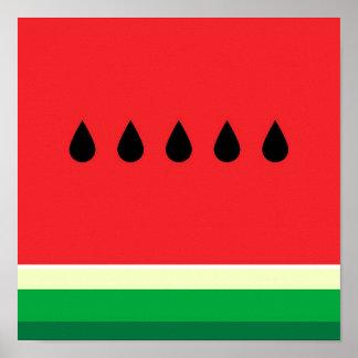 Poster Minimalist Watermelon
