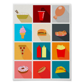Poster Minimalista Decorativo Food