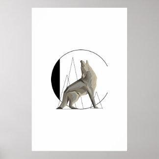 Poster minimalista do chacal/lobo C
