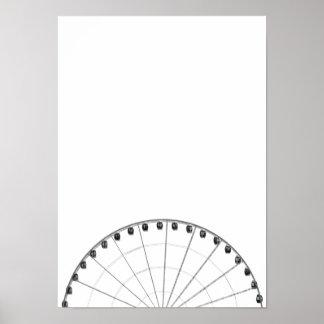 Poster minimalista preto & branco da roda de