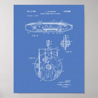 Pôster Modelo 1959 nuclear da arte do motor de jato da