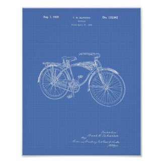Pôster Modelo da arte da patente da bicicleta 1939