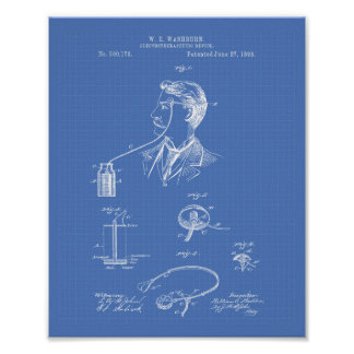 Pôster Modelo da arte da patente de Electrotherapeutic