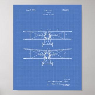 Pôster Modelo da arte da patente do avião 1929