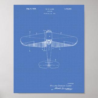 Poster Modelo da arte da patente do avião 1929
