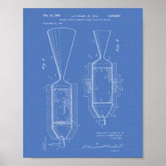 Poster Modelo nuclear da arte da patente do motor 1963 do