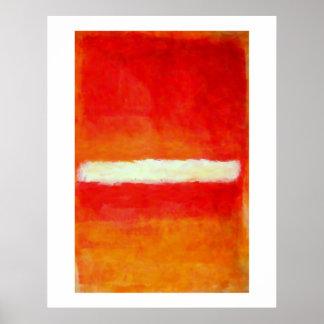 Poster moderno da arte abstracta - estilo de Rothk Pôster