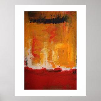 Poster moderno da arte abstracta - trabalhos de ar pôster