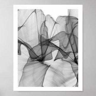 Poster monocromático abstrato | 8x10