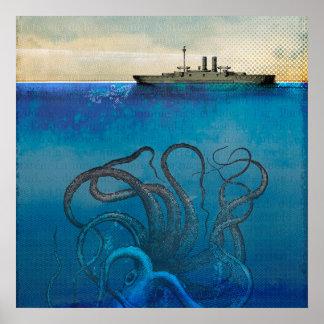 Poster Monstro de mar