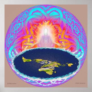 Poster Montanha escondida da pintura da criação de YHWH ~