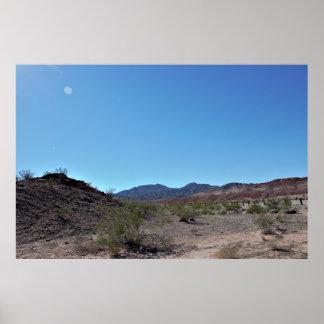 Poster Montanhas do deserto de Nevada