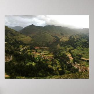 Poster Montanhas gigantescos em Peru