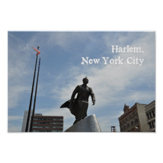 Poster Monumento do Jr. de Adam Clayton Powell em Harlem