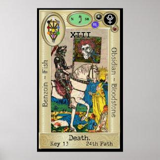 Poster Morte do ~ da chave 13 de Ifdawn Deepdream Tarot