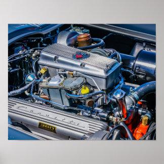 Pôster Motor injetado combustível de Corveta