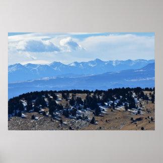Poster Mountain View distante de Colorado
