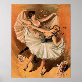 Pôster Mulher da bailarina do vintage