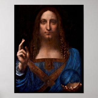 Pôster mundi de Salvador por Leonardo da Vinci