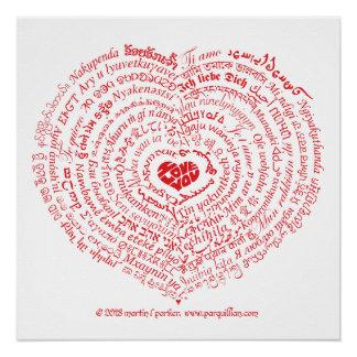Pôster Mundo do poster do coração do amor