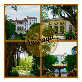 Pôster Museu de Vizcaya e jardim botânico Miami Florida