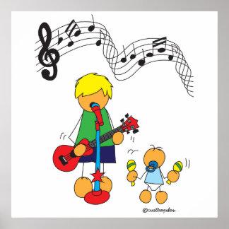 Pôster Música do amor de Edu e de Sami