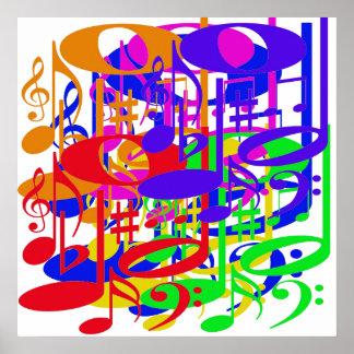 Poster musical do arco-íris