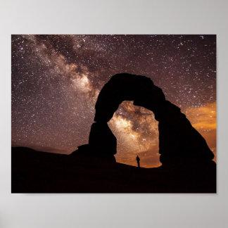 Pôster Na presença da Via Láctea